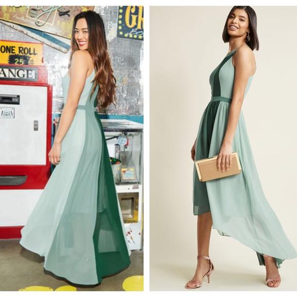 6c597e53674516 MODCLOTH Peachy Queen Maxi Dress Pear Green {L1}. M_5b889d5d9539f767ce6d962f